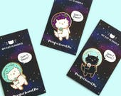 Purrsonal Space ~ Purrfect Cat Enamel Pin