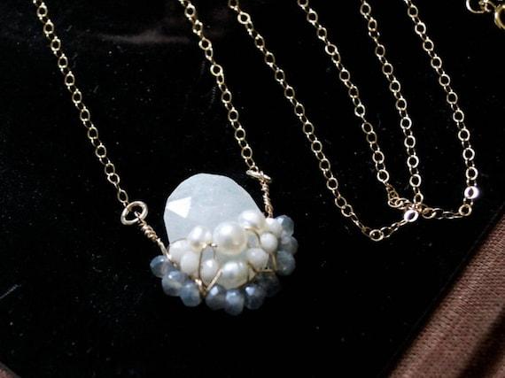 Moonstone necklace - pendant charm