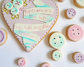Mother's Day Button Cookies