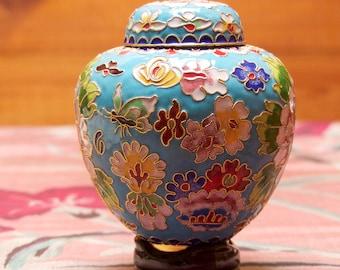 Vintage Chinese Cloisonne handmade Ginger Jar