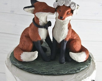 Realistic Fox Wedding Cake Topper