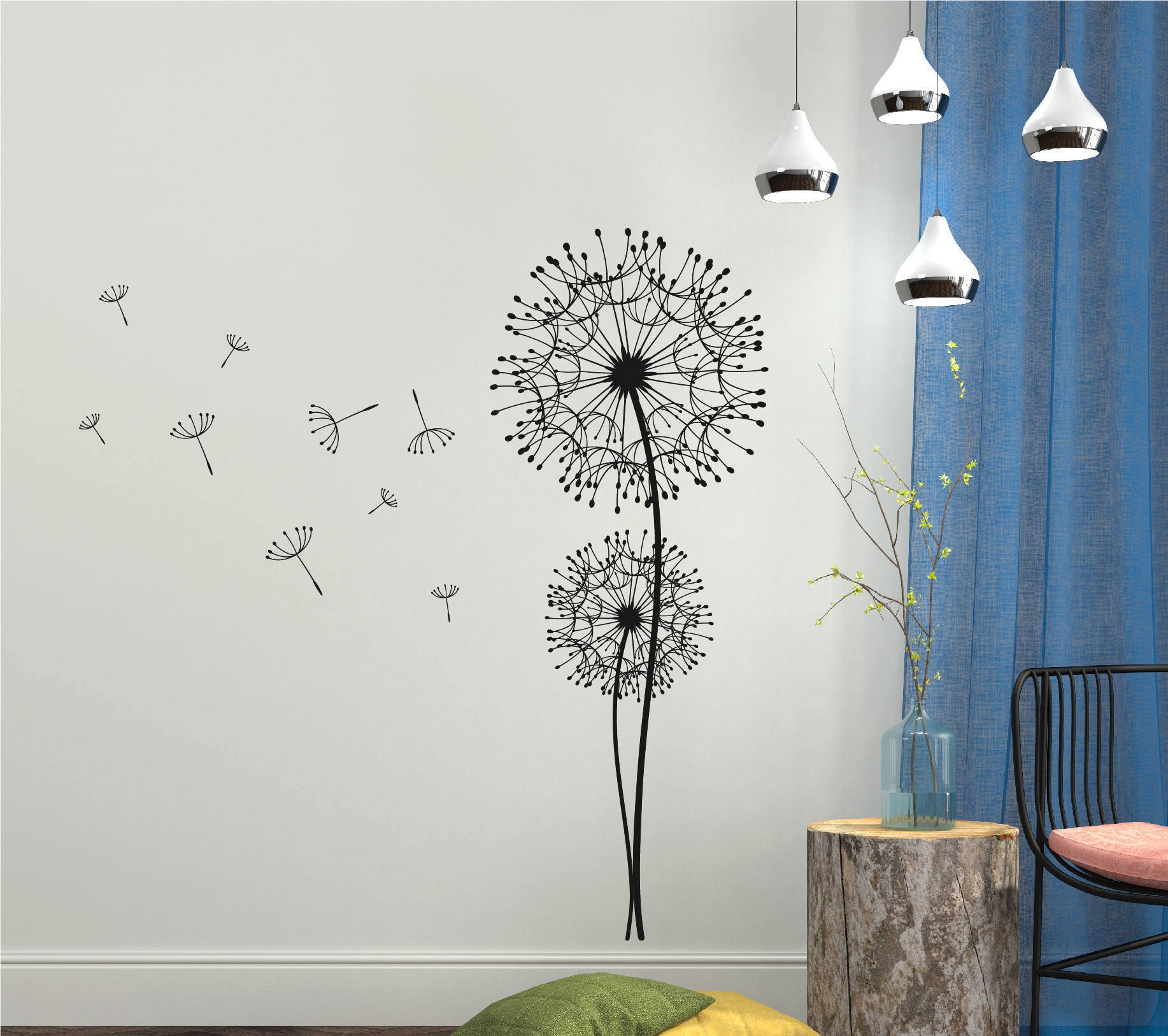 Dandelion wall decals zoom amipublicfo Images