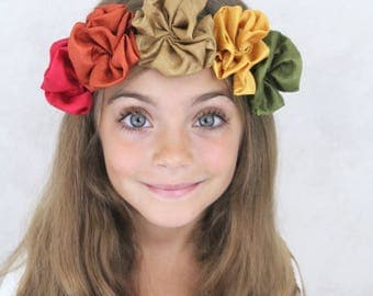 Fall Flower Headband - Flower Crown - Hippie Headband Flowers