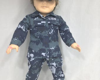 American Girl size NAVY Uniform 2017 complete with Black Boots