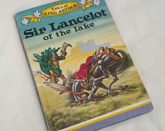 Vintage Ladybird Classics Book Sir Lancelot of the lake - Tales of King Arthur - Series 740 - Matt Covers - Late 70s Early 80s Edition