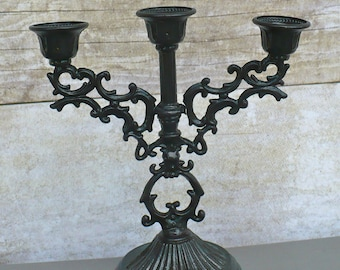 Gorgeous ORNATE Mini Vintage Candelabra Goth Victorian Hollywood Glam Home Decor