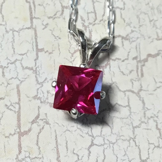 Ruby Necklace, Ruby Gemstone, Hand Forged Jewelry, Metalsmith Jewelry, SRAJD, Gifts 15 Dollars and Under, Stones Jewelry, July Birthstone,