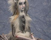 Reserved for Maureen OOAK handmade Art Doll Winter Ice Queen by Majestic Thorns