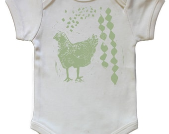 Chicken Organic Baby Onesie