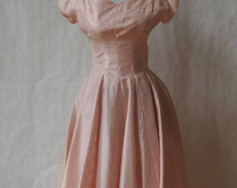 1950s Pink Party/Prom Dress SIze XS Small