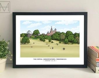Royal Observatory, Greenwich giclee print
