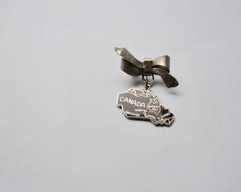 Marcasite large sterling bow silver Brooch