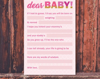 Baby Shower 'Dear Baby' Activity
