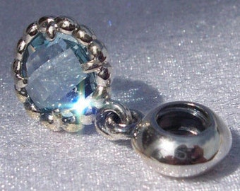 Authentic Pandora, Cool Breeze, Bracelet Charm, Retired, Blue Topaz, Sterling Silver, 925 ALE, Gift Ideas, Ocean, FREE SHIPPING