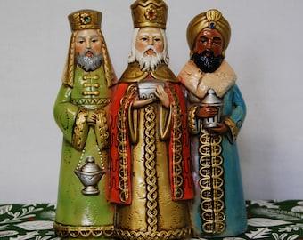 Vintage Three Kings Paper Mache Japan