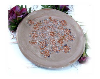 Ceramic candle plate - Handmade Candle Plate, Candy Dish, Soap Dish, Potpourri Dish - Ceramic Plate - Home Decor Plate - # 174