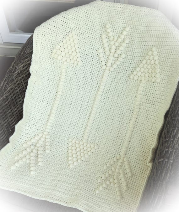 Three Arrows Crochet Baby Blanket Pattern - Baby Blanket Pattern - Blanket Pattern