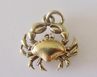 9ct Gold Crab Charm or Pendant