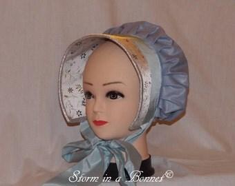 Blue Regency Bonnet