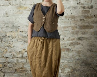 LINEN HAREM PANTS / trousers / yoga pants | afghani pants