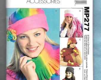McCall's 277 Hats, Scarves, Gloves, and Mittens, Great For Fleece Fabric