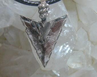 Detailed Sterling Silver Arrow Head Pendant