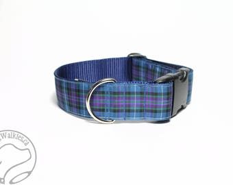 "Ancient Pride of Scotland Tartan Dog Collar / 1.5"" Wide(38mm) / Choice of style and size - Martingale Dog Collars or Quick Release"