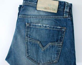 Vintage Diesel Larkee Jeans Straight Leg Comfort Fit Mid Rise Blue W 31 L 31