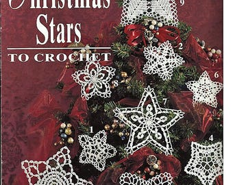 Christmas Stars to Crochet  Pattern Book Leisure Arts Leaflet 2692