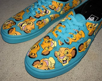 Custom Hand Painted Shoes - Lion King Simba All Over