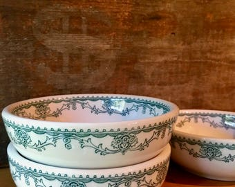 Chili or Soup Bowl, Marion Teal Transferware for Horn & Hardart by Mayer China, 1951