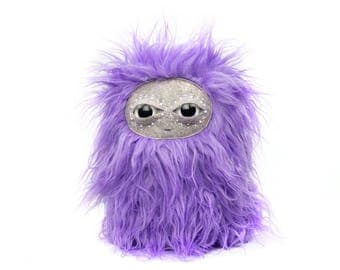 Fluffy Cosmic Purple Nugget Plushie Cool Critter