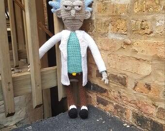 Rick and Morty Inspired Amigurumi Doll