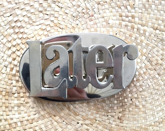 Vintage 1970s Paper Clip Later Word Office Decoration office decor, paperweight, home office