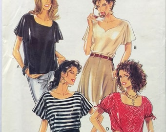 New Look 6185 UNCUT Vintage 90s Easy Blouse Sewing Pattern - Professional top Pattern - sew your own - Sizes 8, 10, 12, 14, 16, 18