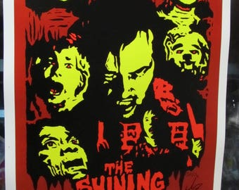 The Shining Fan Art movie poster print limited edition 25 signed numbered horror