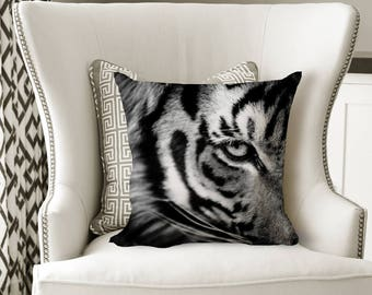Tiger Throw Pillow - African Home Decor - Square Pillow 18x18