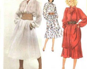 Vogue 2862 American Designer Calvin Klein, Misses Top, Tunic, Dress &  Flared Skirt Pattern, Size 10, UNCUT