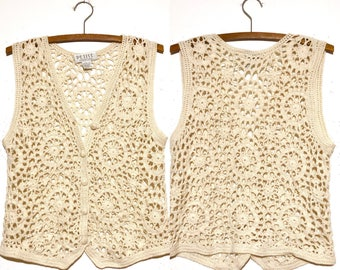 90s Does 70s Crocheted Vest