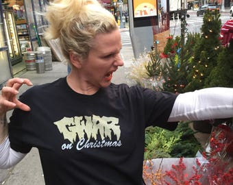GWAR on Christmas screen printed t-shirt (POW!)
