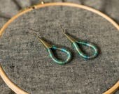 SALE - Cotton earrings - hand dyed