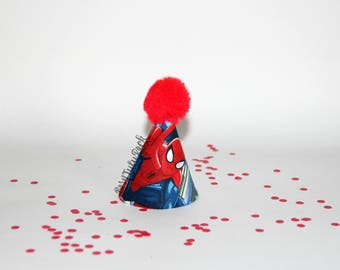 Spider-man Party Hat // SpiderMan Birthday Hat // Mini Party Hat // by Born Tutu Rock