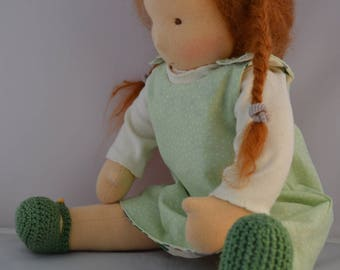 Waldorf Doll 16 inch. in gardening theme