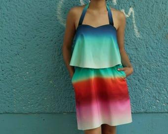 Layerdress Amaro, party dress, beach dress, summer dress, Rainbow dress, colorful dress, cotton dress