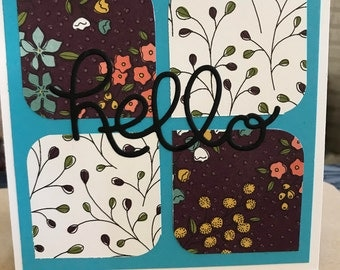 6 Hello Greeting Cards