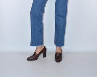 FLASH SALE Vintage CHANEL Loafer Pumps Size 38 (7 - 7.5)