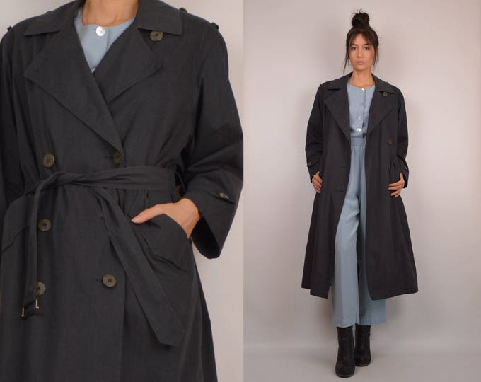 Vintage Gray Trench Coat
