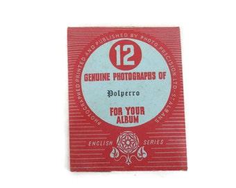 Souvenir Photo Packet Mailer Polperro Cornwall Photo Precision Ltd. English Series 12 Black & White Photos