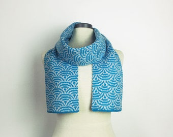 Japanese design, winter scarf, for her, accessories for her, knitted scarf, winter accessory, wool scarf, warm scar, designer, Australian