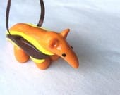 Anteater Ornament - Orange - Ready to Ship